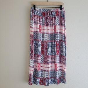 Cotton On Boho Midi Skirt Size L